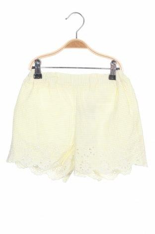 Pantaloni scurți pentru copii Name It, Mărime 7-8y/ 128-134 cm, Culoare Galben, Bumbac, Preț 96,22 Lei
