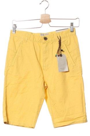 Παιδικό κοντό παντελόνι Zara, Μέγεθος 11-12y/ 152-158 εκ., Χρώμα Κίτρινο, Βαμβάκι, Τιμή 25,46€
