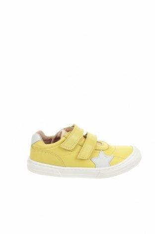 Детски обувки Bisgaard, Размер 29, Цвят Жълт, Естествена кожа, Цена 66,75лв.