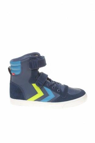 Детски обувки Hummel, Размер 35, Цвят Син, Еко кожа, естествен велур, Цена 65,45лв.