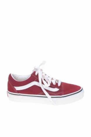 Детски обувки Vans, Размер 34, Цвят Червен, Текстил, естествен велур, Цена 52,46лв.