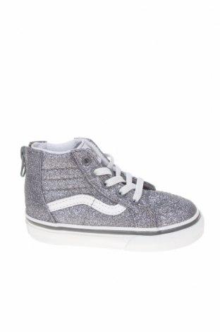 Детски обувки Vans, Размер 22, Цвят Сребрист, Текстил, Цена 51,62лв.