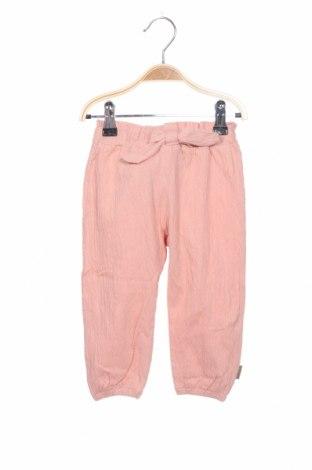 Pantaloni pentru copii Hust & Claire, Mărime 9-12m/ 74-80 cm, Culoare Roz, 94% bumbac, 5% poliamidă, 1% elastan, Preț 93,48 Lei
