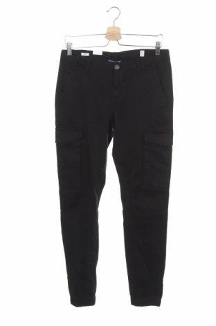 Детски панталон Jack & Jones, Размер 15-18y/ 170-176 см, Цвят Черен, 98% памук, 2% еластан, Цена 25,37лв.