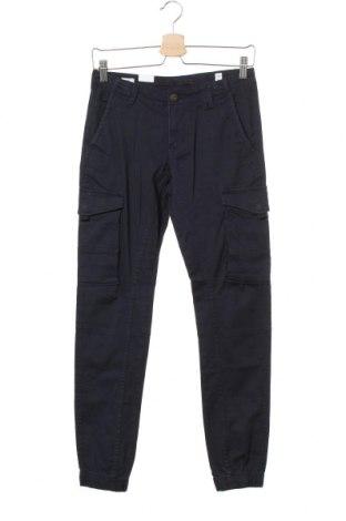 Pantaloni pentru copii Jack & Jones, Mărime 12-13y/ 158-164 cm, Culoare Albastru, 98% bumbac, 2% elastan, Preț 124,74 Lei