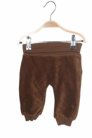 Pantaloni pentru copii Name It, Mărime 1-2m/ 50-56 cm, Culoare Maro, 80% bumbac, 20% poliester, Preț 80,13 Lei