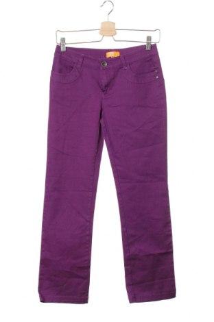 Dětské kalhoty  One By One, Velikost 10-11y/ 146-152 cm, Barva Fialová, 98% bavlna, 2% elastan, Cena  335,00Kč