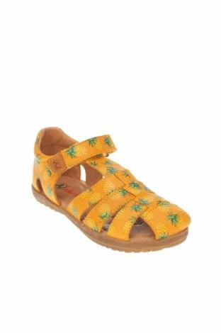 Детски сандали Naturino, Размер 32, Цвят Жълт, Естествена кожа, Цена 24,92лв.