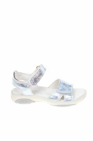 Детски сандали Primigi, Размер 25, Цвят Сребрист, Еко кожа, Цена 26,55лв.