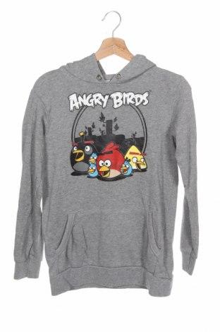 Детски суичър Angry Birds, Размер 12-13y/ 158-164 см, Цвят Сив, 85% памук, 15% полиестер, Цена 15,96лв.