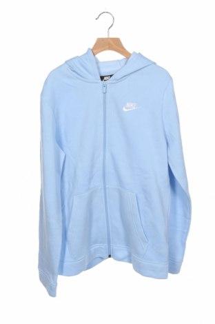 Hanorac pentru copii Nike, Mărime 13-14y/ 164-168 cm, Culoare Albastru, 80% bumbac, 20% poliester, Preț 97,90 Lei