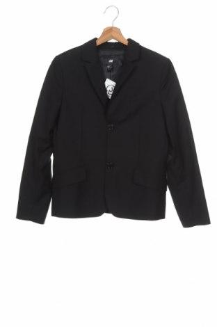 Dětské sako  H&M, Velikost 12-13y/ 158-164 cm, Barva Černá, Cena  393,00Kč