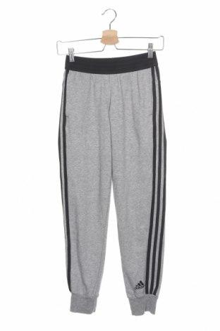 Dětské tepláky Adidas, Velikost 11-12y/ 152-158 cm, Barva Šedá, 72% bavlna, 28% polyester, Cena  462,00Kč