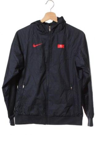 Geacă de sport pentru copii Nike, Mărime 11-12y/ 152-158 cm, Culoare Albastru, Poliester, Preț 129,48 Lei