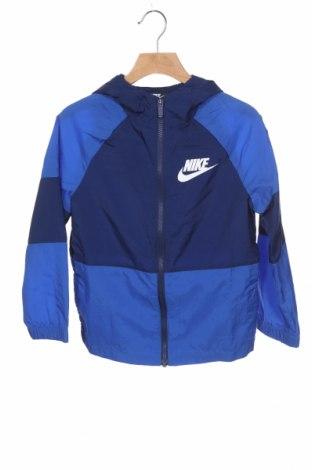 Geacă de sport pentru copii Nike, Mărime 6-7y/ 122-128 cm, Culoare Albastru, Poliester, Preț 145,26 Lei