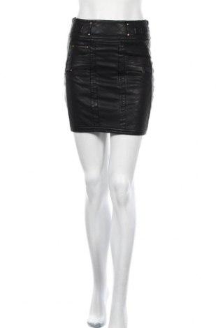 Кожена пола Bardot, Размер S, Цвят Черен, Еко кожа, Цена 9,48лв.