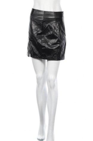 Кожена пола SHEIN, Размер S, Цвят Черен, Еко кожа, Цена 20,95лв.