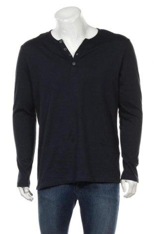 Мъжка блуза Pier One, Размер L, Цвят Син, Памук, Цена 28,42лв.