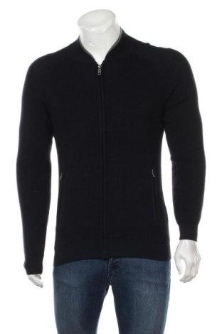 Jachetă tricotată de bărbați Liu Jo, Mărime L, Culoare Albastru, 43% poliester, 30% viscoză, 20% poliamidă, 7%acril, Preț 220,56 Lei