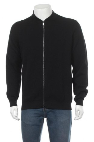 Мъжка жилетка Massimo Dutti, Размер L, Цвят Черен, Памук, Цена 40,32лв.
