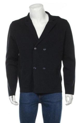 Jachetă tricotată de bărbați Massimo Dutti, Mărime L, Culoare Albastru, Bumbac, Preț 175,66 Lei