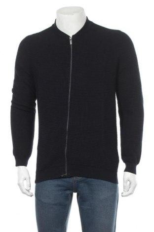 Мъжка жилетка Massimo Dutti, Размер XL, Цвят Син, 95% памук, 5% кашмир, Цена 49,50лв.