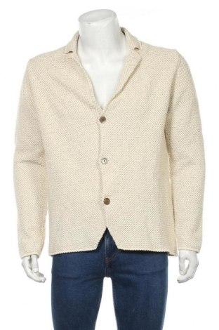 Jachetă tricotată de bărbați Massimo Dutti, Mărime XL, Culoare Ecru, 83% bumbac, 10% viscoză, 5% poliamidă, 2% poliester, Preț 175,66 Lei