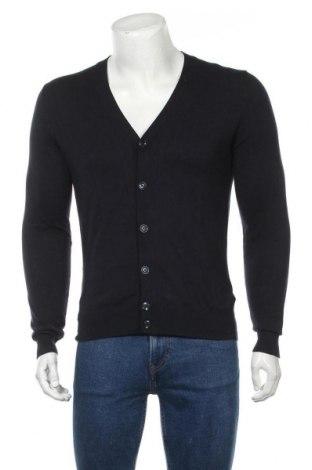 Мъжка жилетка Massimo Dutti, Размер S, Цвят Син, 70% памук, 25% коприна, 5% кашмир, Цена 49,50лв.