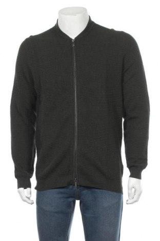Мъжка жилетка Massimo Dutti, Размер XL, Цвят Зелен, 95% памук, 5% кашмир, Цена 49,50лв.