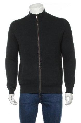 Jachetă tricotată de bărbați Massimo Dutti, Mărime L, Culoare Verde, 87% bumbac, 13% mătase, Preț 175,66 Lei