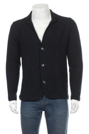 Мъжка жилетка Massimo Dutti, Размер L, Цвят Син, Памук, Цена 42,72лв.