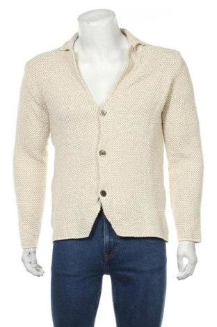 Мъжка жилетка Massimo Dutti, Размер M, Цвят Екрю, 83% памук, 10% вискоза, 5% полиамид, 2% полиестер, Цена 44,50лв.
