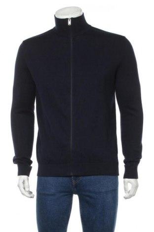 Jachetă tricotată de bărbați Selected Homme, Mărime M, Culoare Albastru, Bumbac, Preț 150,72 Lei
