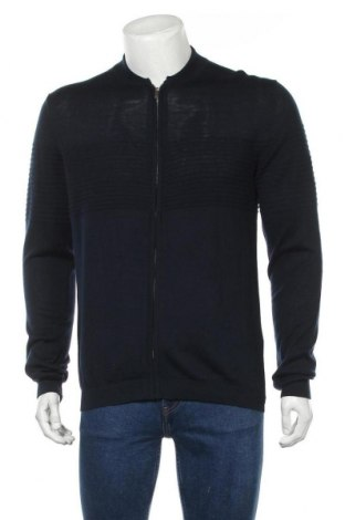 Мъжка жилетка Selected Homme, Размер M, Цвят Син, 55% лиосел, 35% полиамид, 10% вълна, Цена 35,55лв.