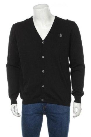 Мъжка жилетка U.S. Polo Assn., Размер XXL, Цвят Черен, Памук, Цена 45,87лв.