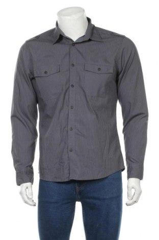 Мъжка риза Angelo Litrico, Размер M, Цвят Сив, 65% полиестер, 35% памук, Цена 6,25лв.