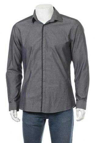 Мъжка риза Angelo Litrico, Размер M, Цвят Сив, Памук, Цена 6,62лв.