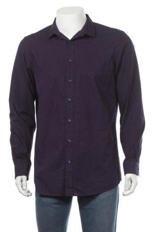 Мъжка риза Angelo Litrico, Размер L, Цвят Син, Памук, Цена 10,40лв.