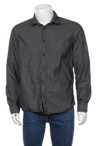 Мъжка риза Angelo Litrico, Размер L, Цвят Син, 78% памук, 22% полиестер, Цена 5,36лв.