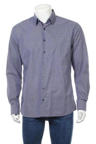 Ανδρικό πουκάμισο Eterna, Μέγεθος L, Χρώμα Μπλέ, Βαμβάκι, Τιμή 11,04€