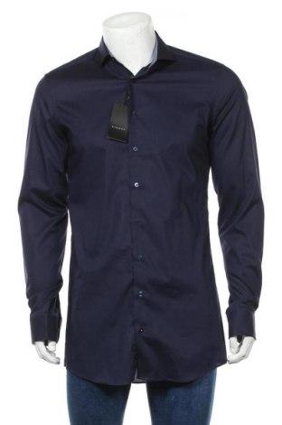 Мъжка риза Eterna, Размер M, Цвят Син, 97% памук, 3% еластан, Цена 33,97лв.
