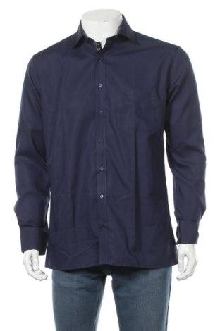 Мъжка риза Eterna, Размер M, Цвят Син, Памук, Цена 27,90лв.