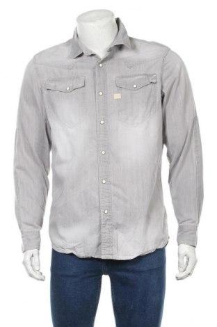 Ανδρικό πουκάμισο G-Star Raw, Μέγεθος L, Χρώμα Γκρί, 100% βαμβάκι, Τιμή 25,46€