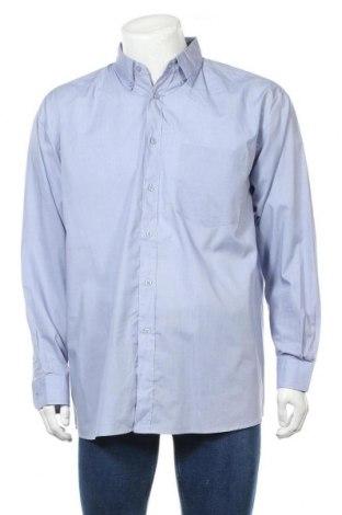 Ανδρικό πουκάμισο Identic, Μέγεθος L, Χρώμα Μπλέ, 5% πολυεστέρας, 35% βαμβάκι, Τιμή 11,69€