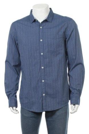 Ανδρικό πουκάμισο Jean Pascale, Μέγεθος L, Χρώμα Μπλέ, Βαμβάκι, Τιμή 11,69€