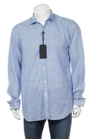 Мъжка риза Liu Jo, Размер XL, Цвят Син, 55% лен, 45% памук, Цена 64,50лв.