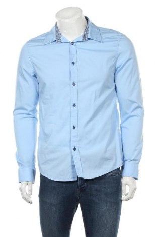 Мъжка риза Pier One, Размер L, Цвят Син, Памук, Цена 17,96лв.