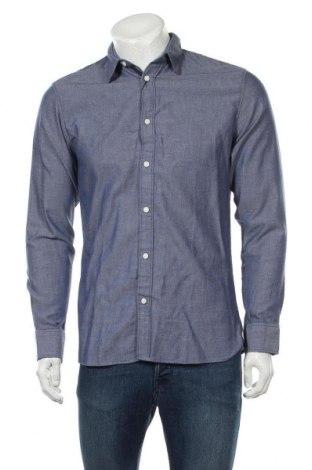 Ανδρικό πουκάμισο Selected Homme, Μέγεθος S, Χρώμα Μπλέ, Βαμβάκι, Τιμή 8,97€