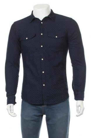 Ανδρικό πουκάμισο Smog, Μέγεθος S, Χρώμα Μπλέ, Βαμβάκι, Τιμή 12,34€
