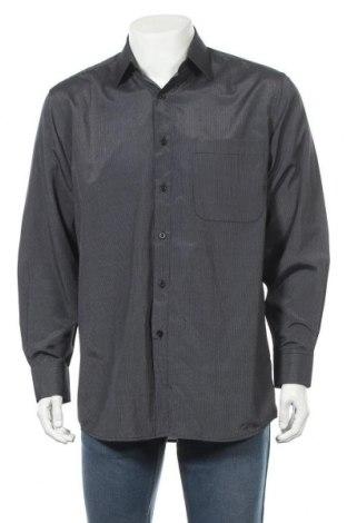 Ανδρικό πουκάμισο Zab, Μέγεθος M, Χρώμα Γκρί, 80% πολυεστέρας, 20% βαμβάκι, Τιμή 12,34€